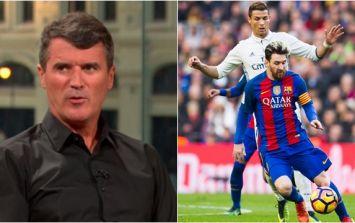Roy Keane has given his take on the Cristiano Ronaldo vs. Lionel Messi debate