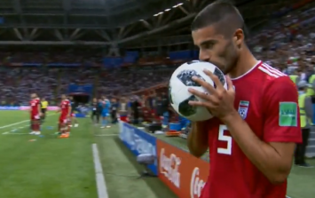 Iran player unveils the greatest throw-in in World Cup history against Spain