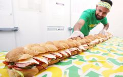 Subway launches giant six-foot Sub that feeds up to 25 people