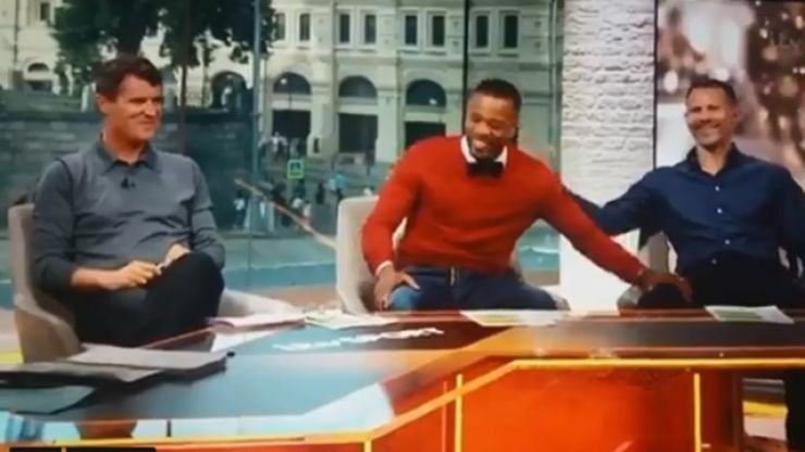 Even Roy Keane had a little giggle at Ryan Giggs' burn on Patrice Evra