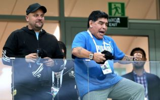 WATCH: Diego Maradona failed to inspire Lionel Messi with his pre-match show of support