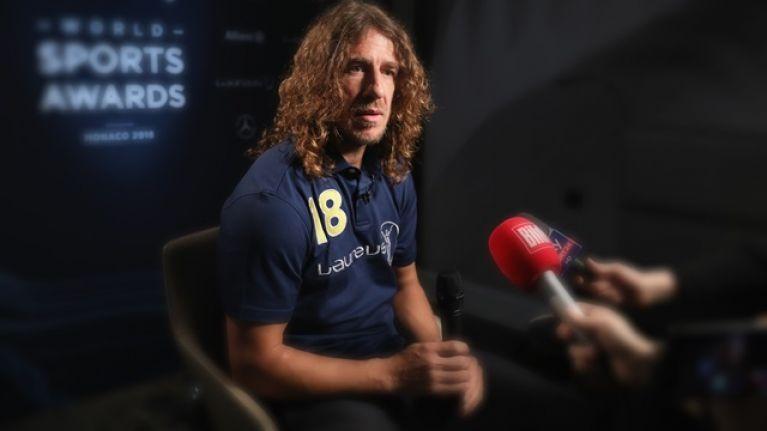 Carles Puyol's long hair cost him a television gig this week