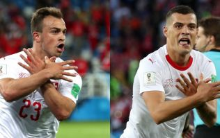 Meaning of Shaqiri and Xhaka's celebration against Serbia means they face two-game ban