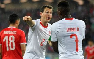 Arsenal fans loved what Stephan Lichtsteiner did to Breel Embolo late on in Swiss win