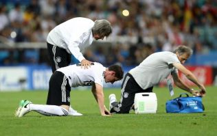 Germany's Sebastian Rudy takes horrific boot to face during Sweden match