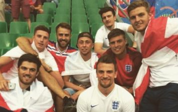 Harry Maguire recreates Euro 2016 group photo from when he travelled as a fan