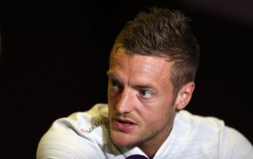Jamie Vardy interrupted a press conference to ask Harry Maguire how big his head is