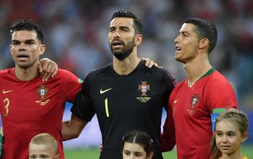 Here's why Cristiano Ronaldo turns to the side during Portugal's national anthem