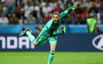 David De Gea is the only goalkeeper not to have made a save at the World Cup
