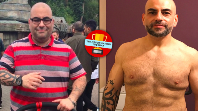 Former 'bottle a night' man drops almost half his body weight