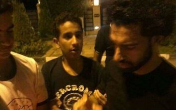 Mo Salah greets hundreds of fans who flocked to his house in Egypt
