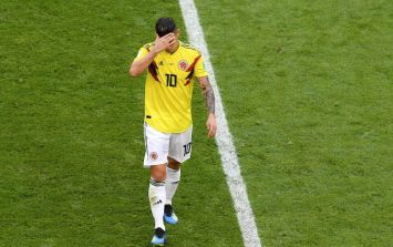James Rodriguez is a huge doubt for England game after missing training