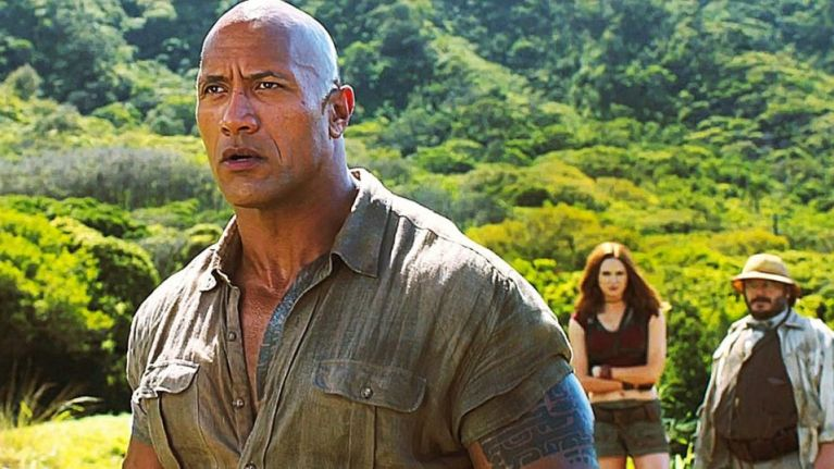 The Rock announces Jumanji sequel and somehow ends up in a feud with Busted