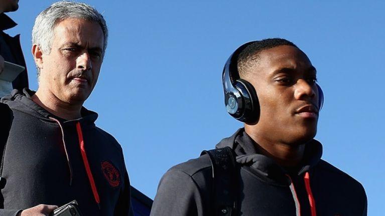 Jose Mourinho turns to press officer after Anthony Martial question