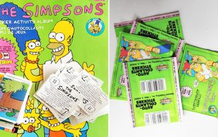 The Simpsons and one man's obsession to finally complete his 28-year-old sticker book