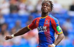 Wilfried Zaha's latest Instagram post would suggest he is staying put at Crystal Palace