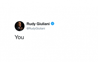 Figuring out why Rudy Giuliani tweeted 'You'