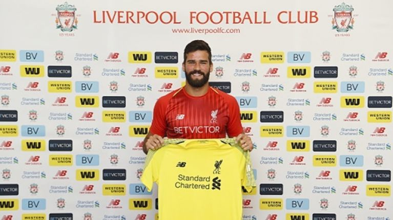 ac7c16c2bd9 Alisson Becker given provisional squad number ahead of first Liverpool start