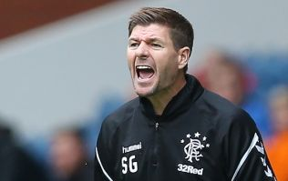 Red card almost spoils Steven Gerrard's first league game as Rangers boss