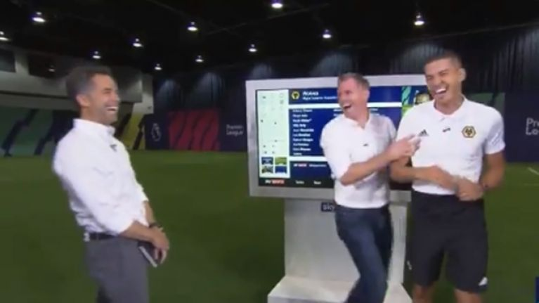Jamie Carragher pulls brilliant prank on Wolves' Conor Coady