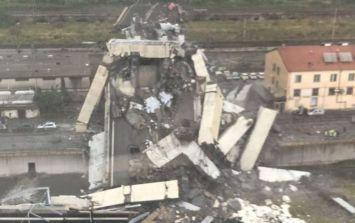 "Viaduct on motorway bridge collapses in Genoa killing ""dozens"""
