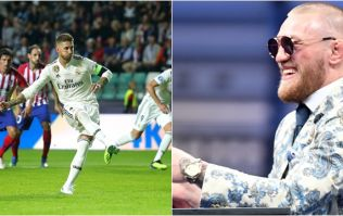 Sergio Ramos pulled a Conor McGregor with celebration of penalty in Super Cup final