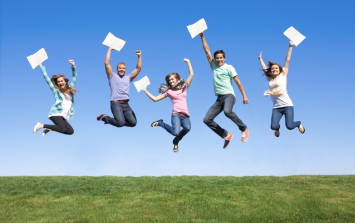 Five exam results photographs you're going to see today