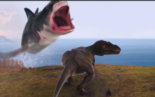 The next Sharknado film has a T-Rex fighting a shark and yeah... we're expecting Oscars
