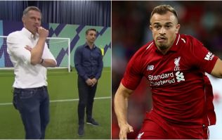 Jamie Carragher reveals hilarious Xherdan Shaqiri message to Gary Neville