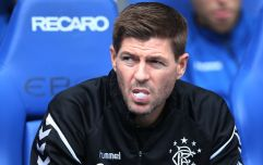 Steven Gerrard clearly wasn't happy with Kilmarnock's pitch on Sunday