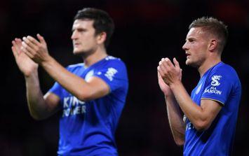 "Jamie Vardy praises Harry Maguire's ""slab head"" after late Leicester winner"