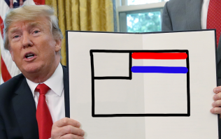 In defence of Donald Trump colouring in the American flag incorrectly