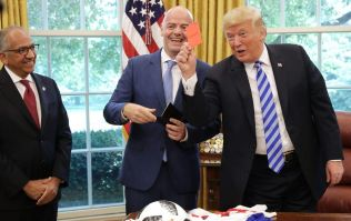 Donald Trump brandishes worst red card in history during 2026 World Cup meeting