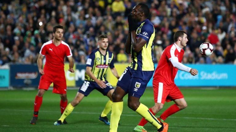 Usain Bolt's debut could definitely have gone better