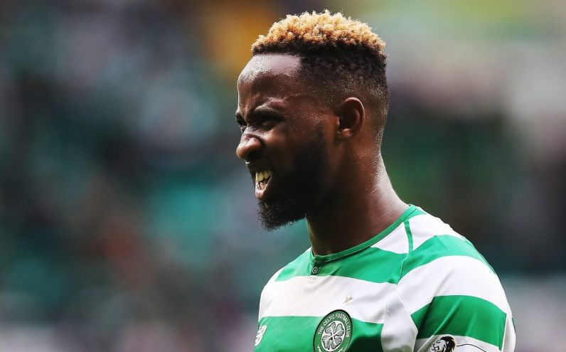 GLASGOW, SCOTLAND - AUGUST 26:  Moussa Dembele of Celtic is seen during the Scottish Premier League match between Celtic and Hamilton Academical at Celtic Park Stadium on August 25, 2018 in Glasgow, Scotland. (Photo by Ian MacNicol/Getty Images)