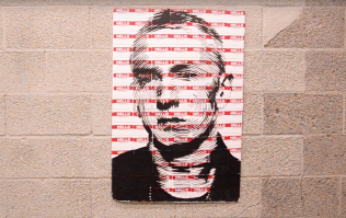 Artist produces incredible Eminem artwork using 'Hello My Name Is' stickers