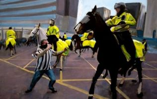 Someone has painted the Newcastle fan punching a horse and it's going for over £1,000