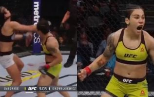 Arguably the most brutal knockout in female UFC history happened at UFC 228