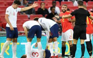 Dani Carvajal sent Luke Shaw a personal message after brutal clash in England vs Spain match