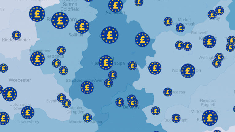 EU funding: Search by postcode to see projects supported in