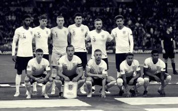 The first 25 seconds of England v Switzerland will be broadcast in black and white