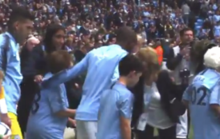 A 102-year-old fan was a mascot at Manchester City's match against Fulham