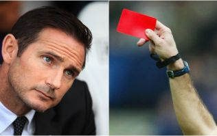 Frank Lampard sent off in Derby's defeat to Rotherham
