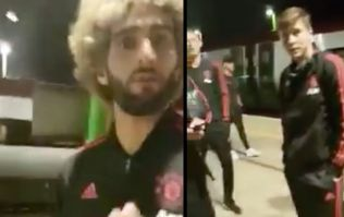 WATCH: Man United's security step in as man records players waiting on train back to Manchester
