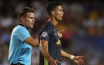 This has to be the weirdest theory on Cristiano Ronaldo's red card against Valencia