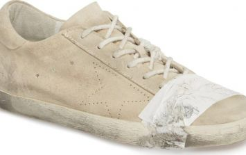 £335 pair of shoes comes with free tape and dog s**t stains