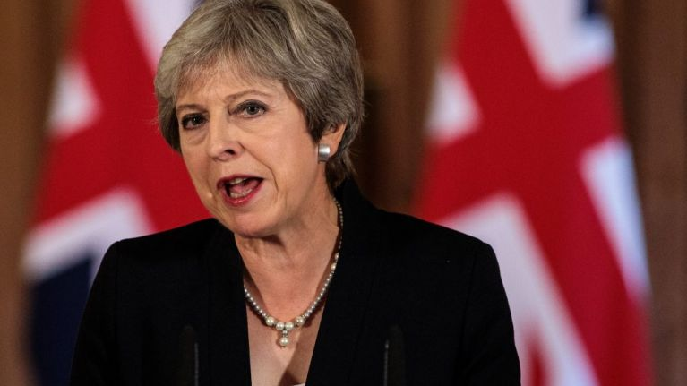 Enraged Theresa May offers out the EU in front of its mates