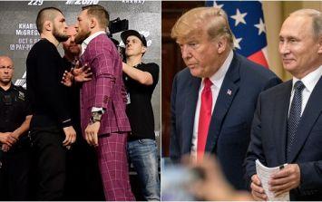 Donald Trump and Vladimir Putin welcome at UFC 229, according to Dana White