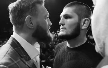 Clear audio of what Conor McGregor said to Khabib Nurmagomedov during face-off