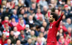 Liverpool fan in tears after Mohamed Salah hands him his jersey